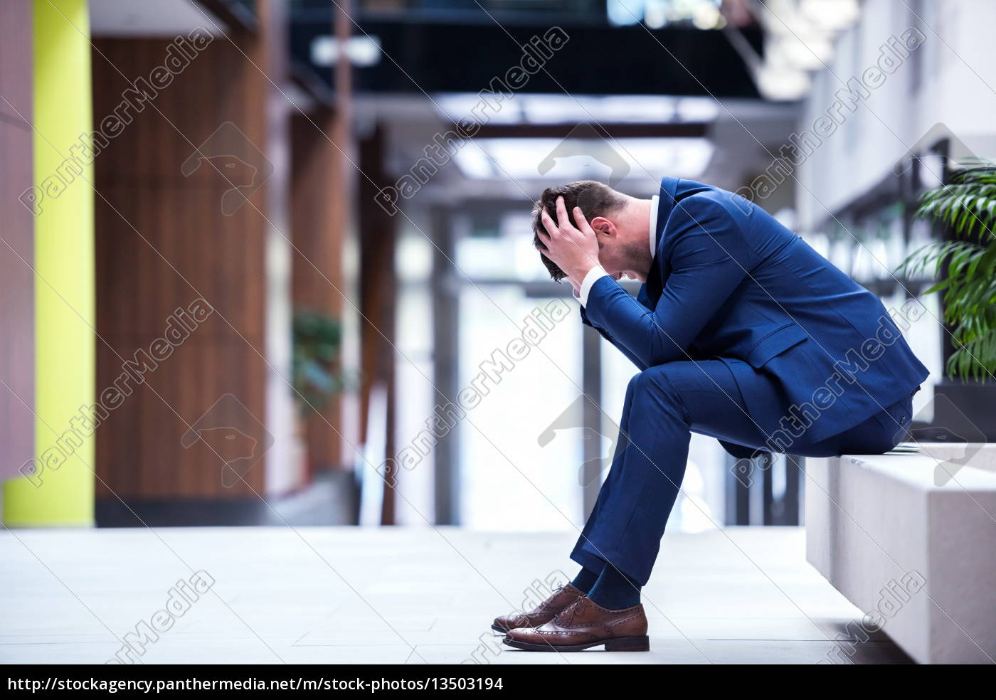frustrated, young, business, man - 13503194