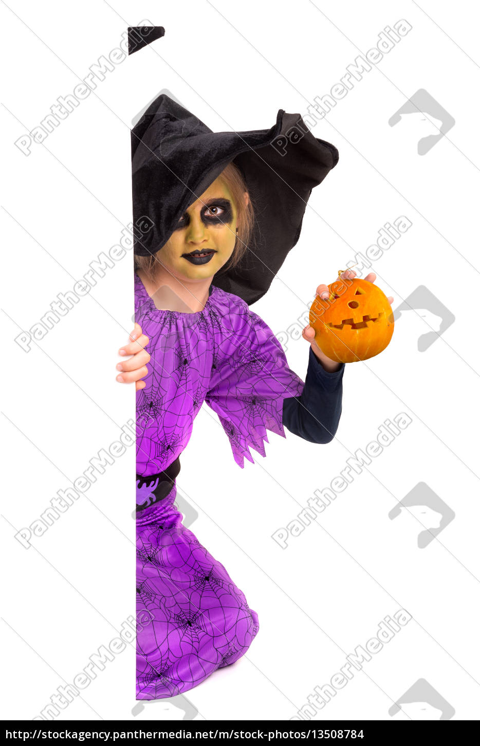 young, girl, witch, in, halloween - 13508784