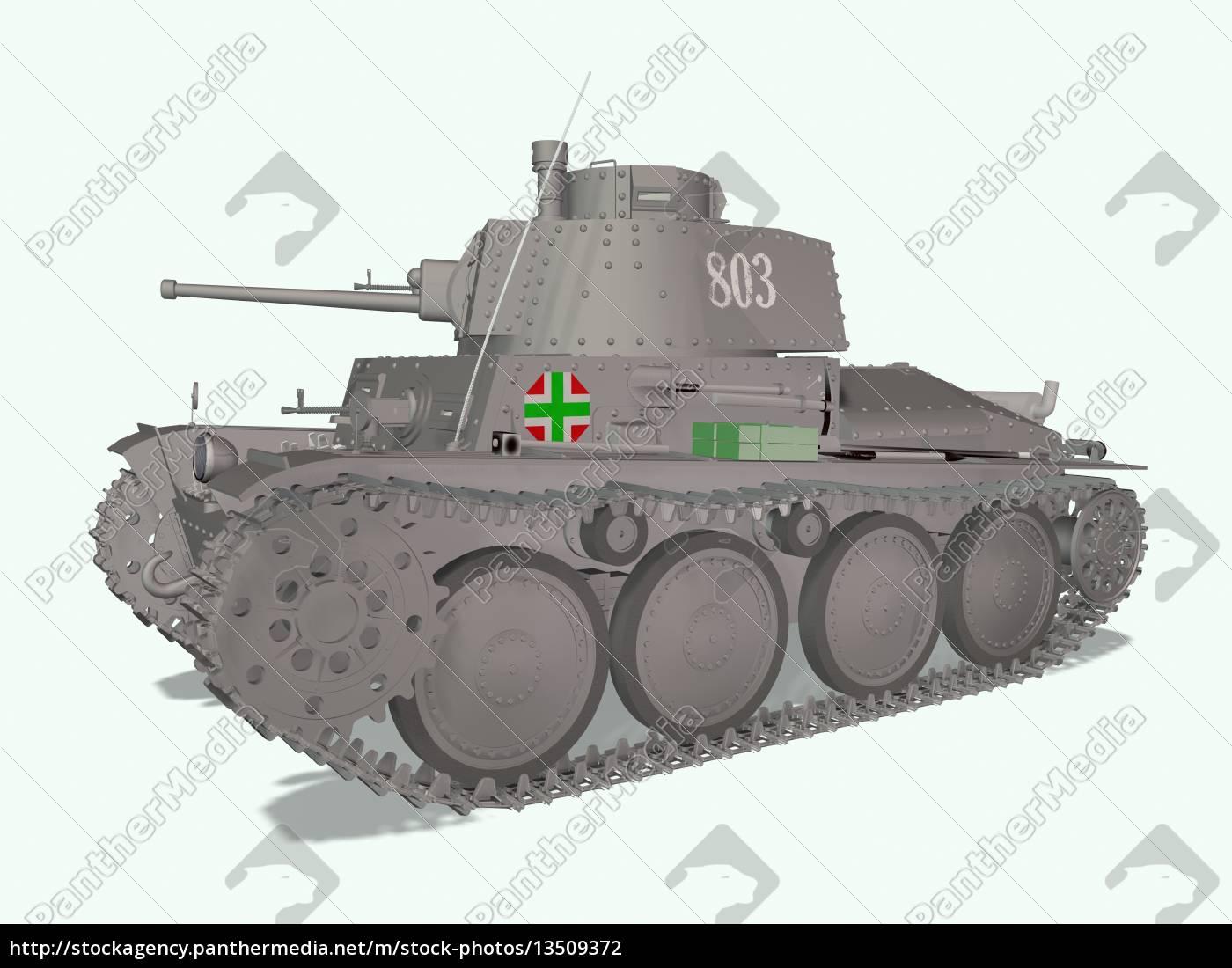 isolated, age, world, war, ii, tank - 13509372