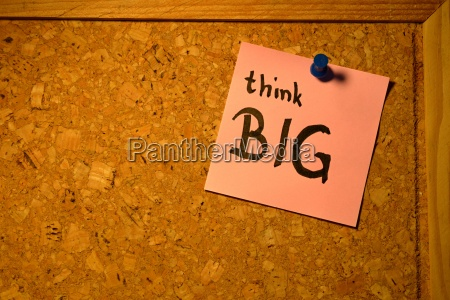 post it think big