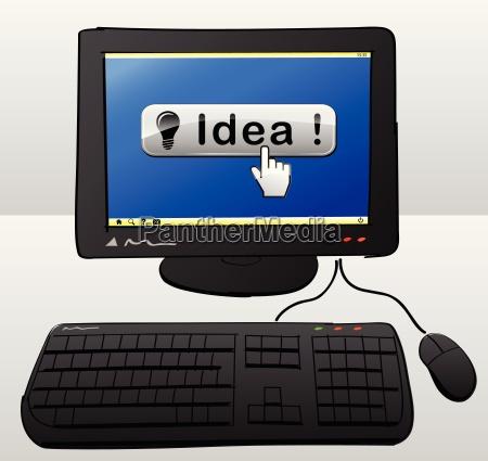 idea computer concept