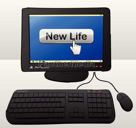 new life computer concept