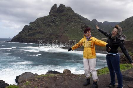 rocky coast at punta de hidalgo