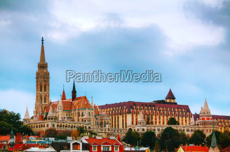 old budapest with st matthias church