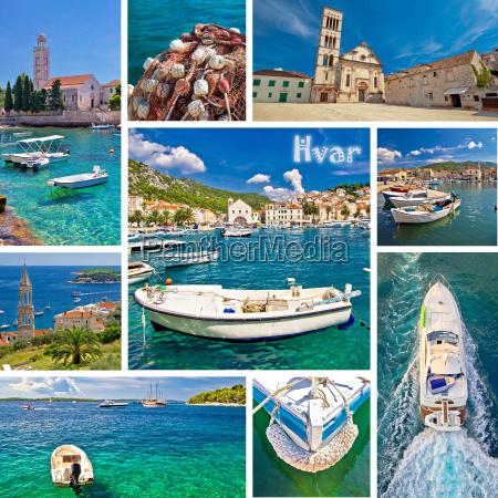 hvar island tourist destination collage