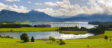 panoramic landscape in bavaria