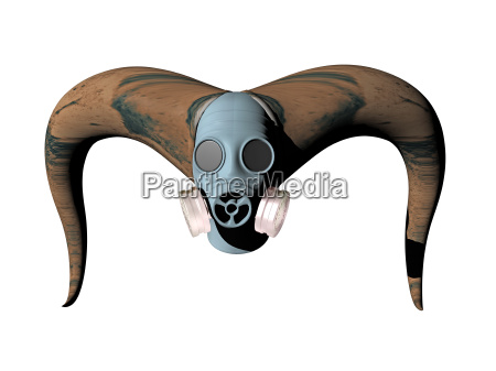 optional gas mask for humans and