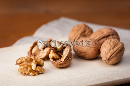 walnuts on a board
