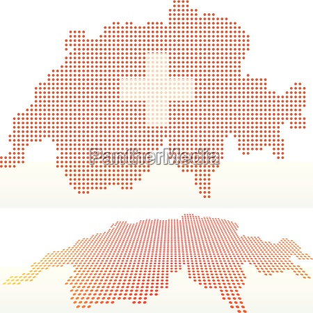 map of switzerland swiss confederation with