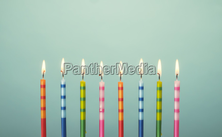 colorful birthday cake candles