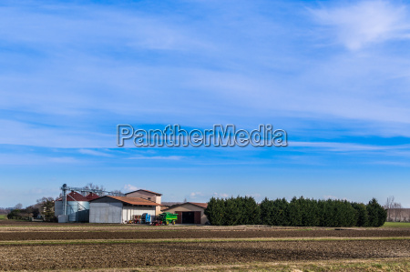 agricultural, landscape, with, farm - 13525696