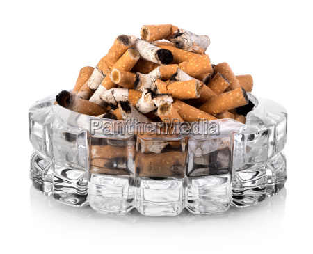 butts in ashtray