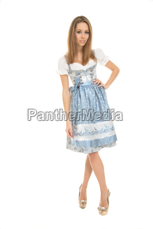 young, woman, in, dirndl - 13530846