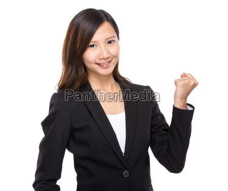 asian businesswoman arm clench
