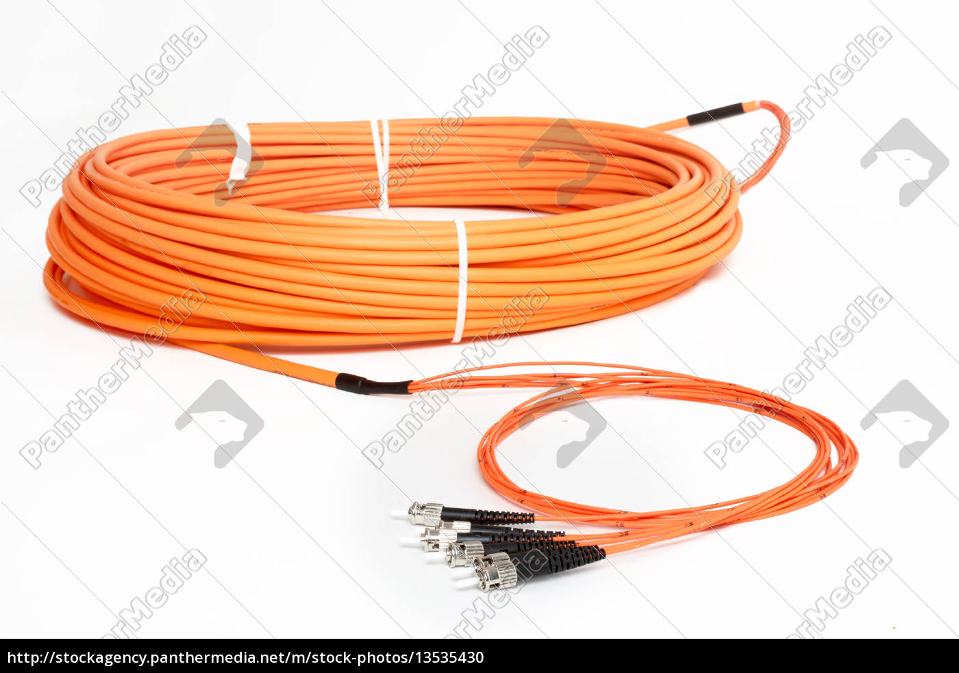 orange, fiber, optic, st, connector, patchcord - 13535430