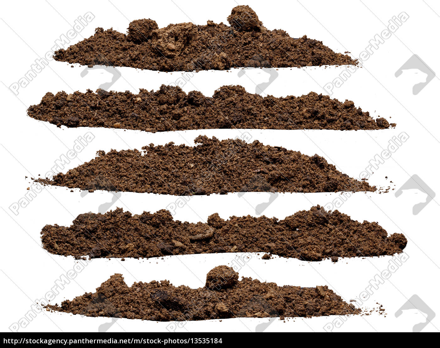 set, pile, of, soil - 13535184