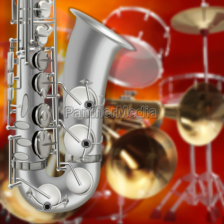 abstract grunge background saxophone and musical