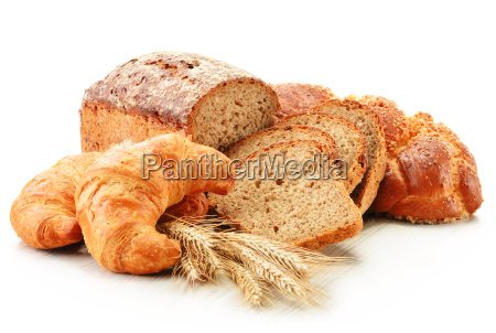 composition with baking products isolated on