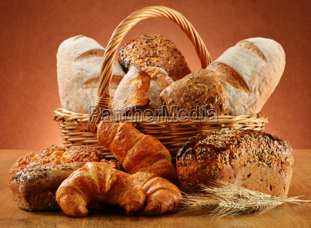 wicker basket with variety of baking