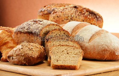 composition, with, bread, and, rolls., baking - 13538044