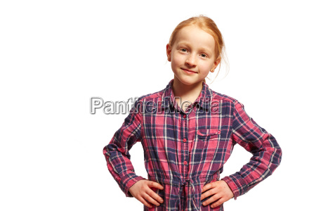 girl holds her arms in her