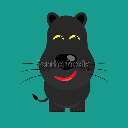 tricky black leopard gartoon character