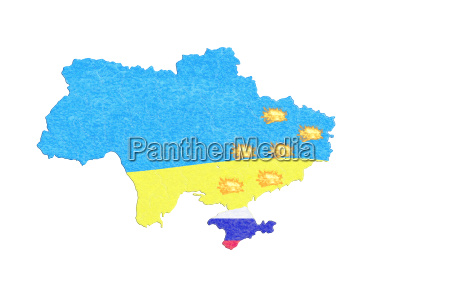 map of ukraine map with small