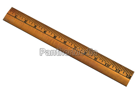 isolated wooden ruler