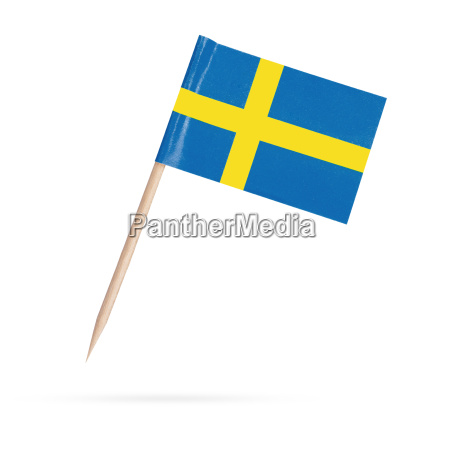 miniature, flag, sweden., isolated, on, white - 13550240