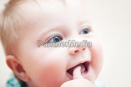 dedo retrato bebe infantil puro atraente