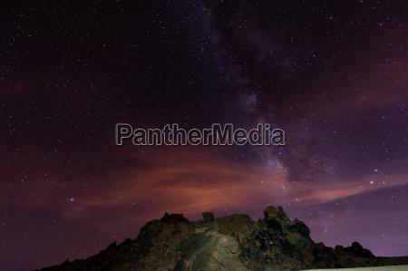 night sky over tenerife