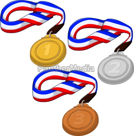 first second and third place medals