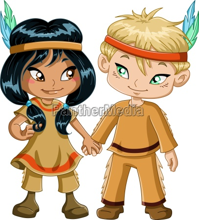 indian boy and girl holding hands