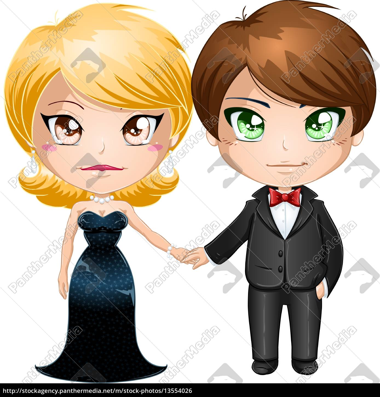 couple, in, evening, wear - 13554026