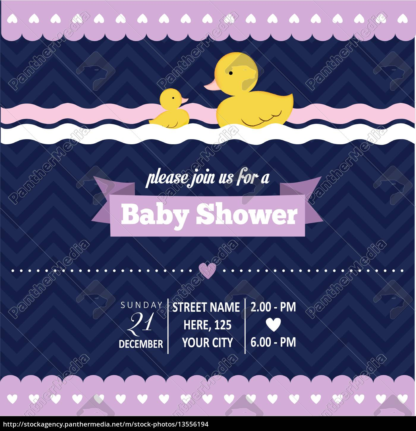 baby, shower, invitation, with, duck, in - 13556194