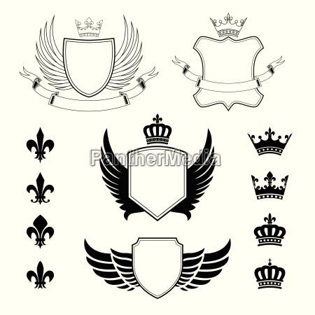 set of winged shields coat