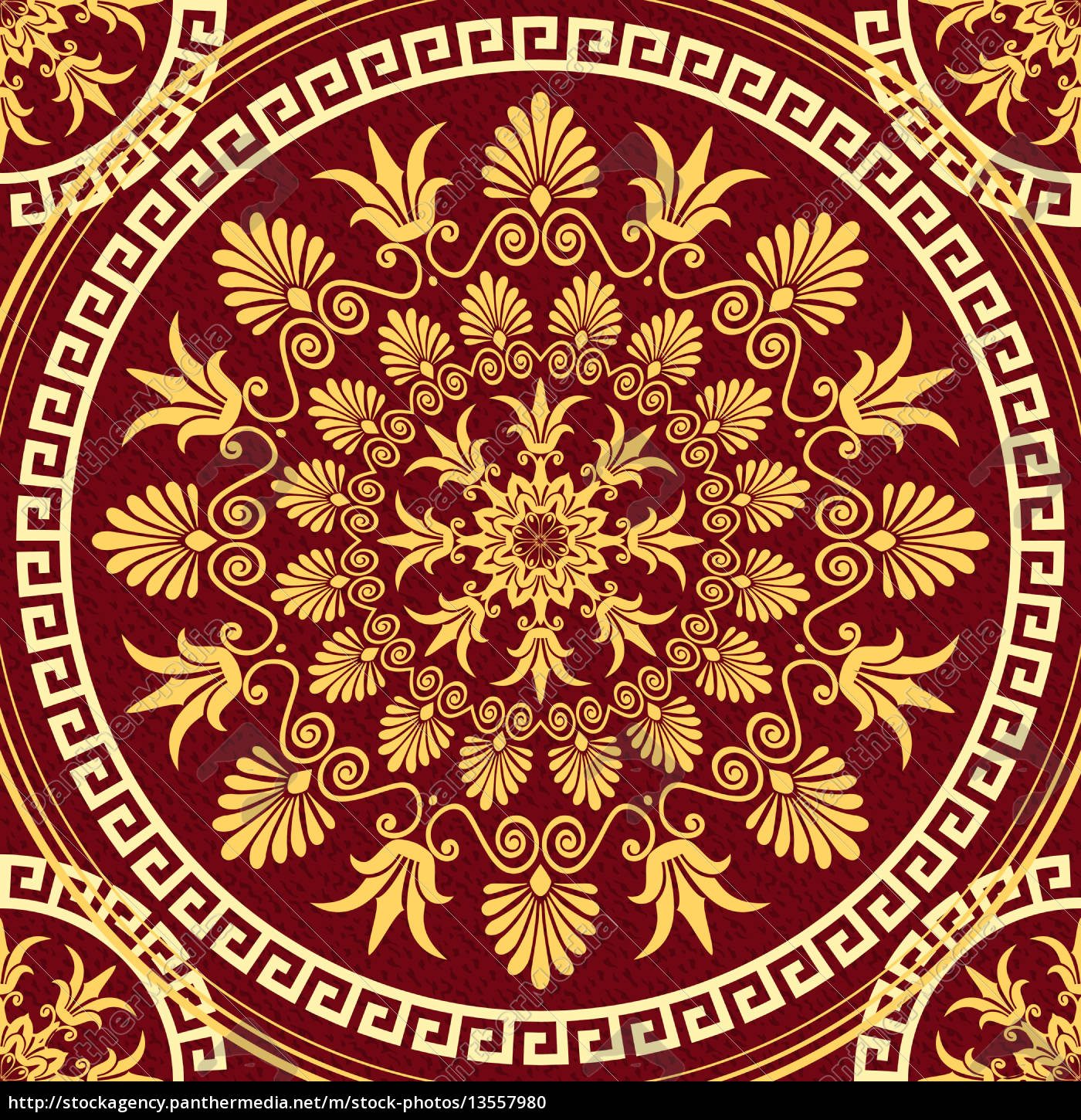 vector, seamless, elegant, lace, gold, ornament - 13557980