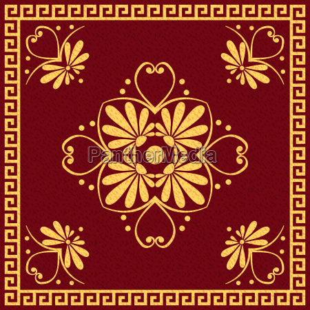 vector, traditional, vintage, gold, greek, ornament - 13557934