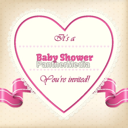 baby shower greeting with heart and