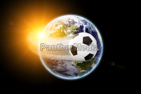 world football earth texture by