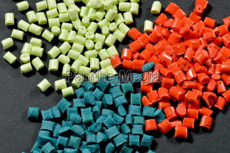 colored plastic polymer granules