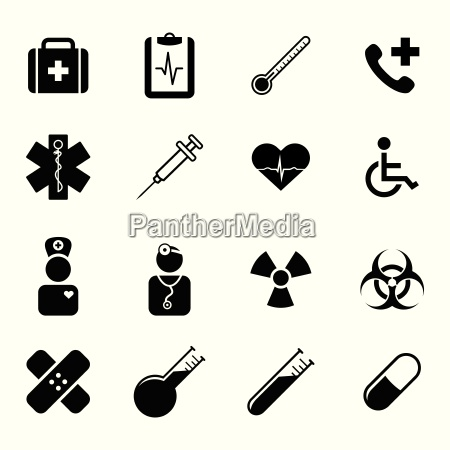 set of black flat icons