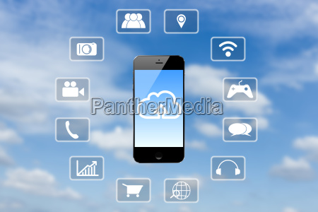 smart phone application technology and clouds