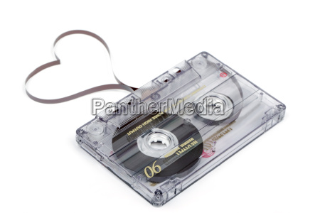 audio cassette tape on white backgound