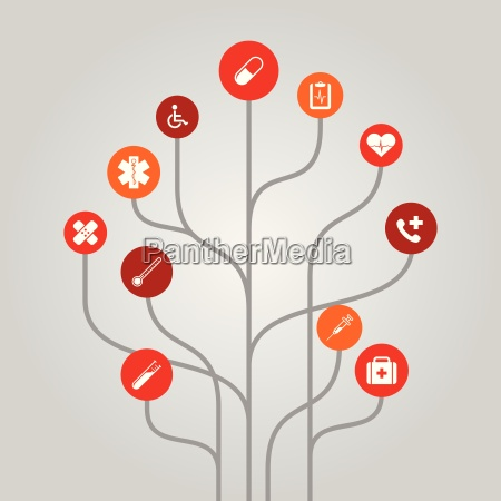 abstract icon tree illustration medicine