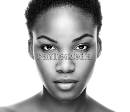 face of an young black beauty