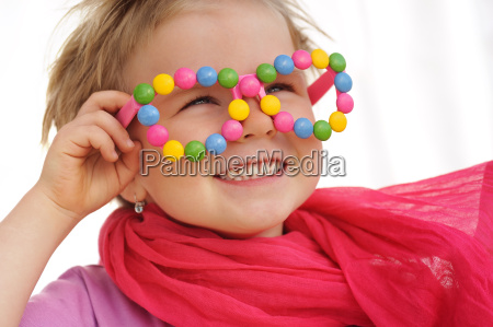 portrait of cute little girl wearing