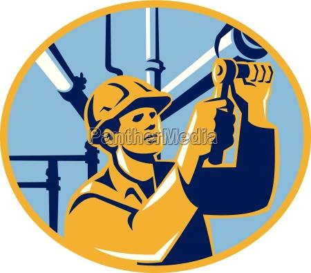pipefitter maintenance gas worker plumber
