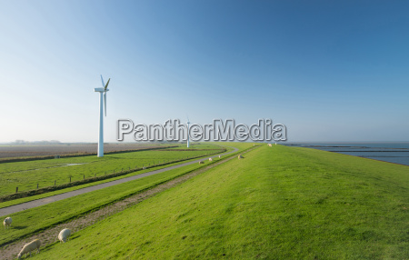wind farm in northern germany on