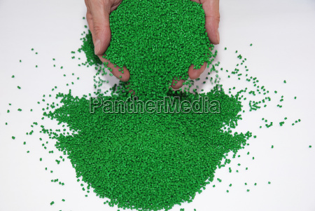 testing of plastic granules in the
